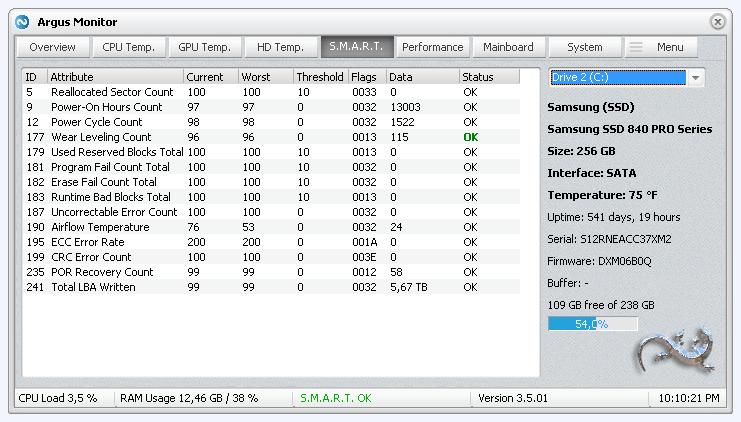 Fan speed control and CPU/GPU/HDD temperature monitoring